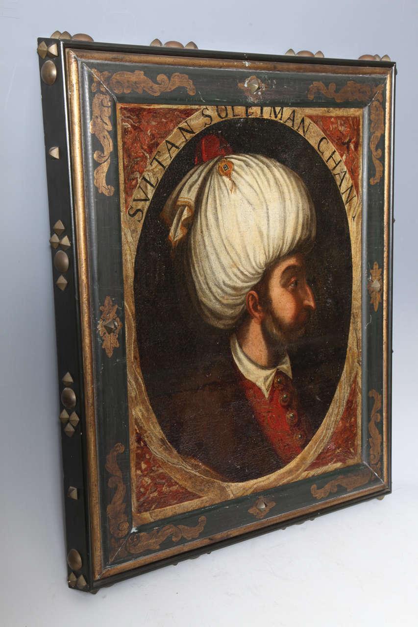 Italian Pair of Portraits of Sultan Suleiman Chan &