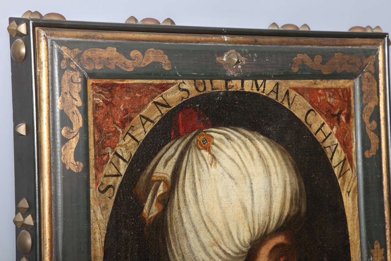 18th Century and Earlier Pair of Portraits of Sultan Suleiman Chan &