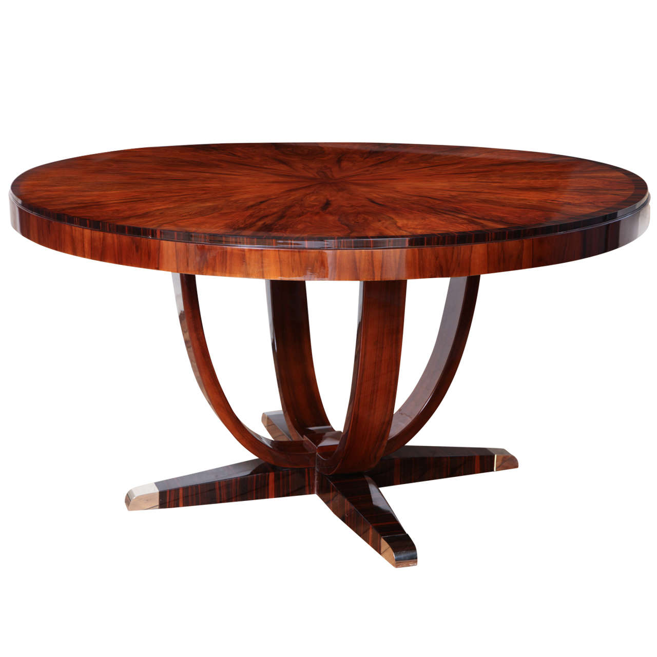 Fabulous Art Deco Round Dining Table At 1stdibs
