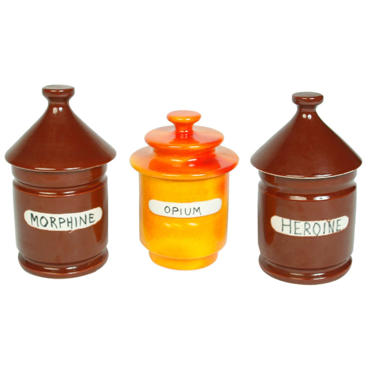 Set Of Three Raymor Quot Vice Quot Jars At 1stdibs