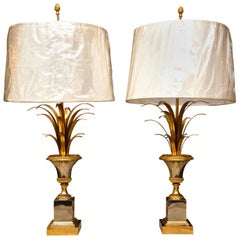 Pair of Vase Roseaux Table Lamps