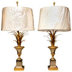 Pair of Vase Roseaux Table Lamps