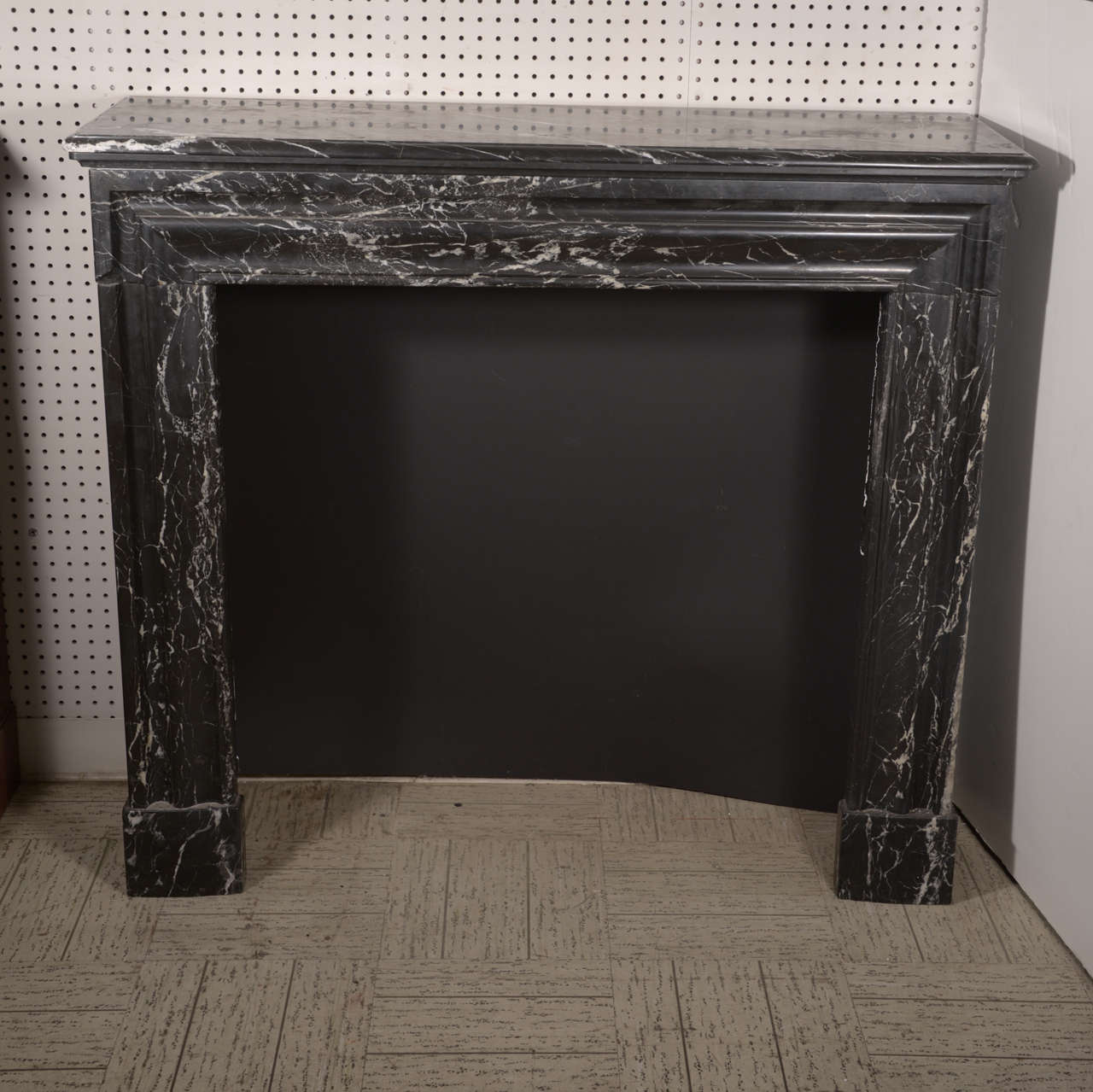 Black Veined Fireplace Marble Mantel For Sale At 1stdibs