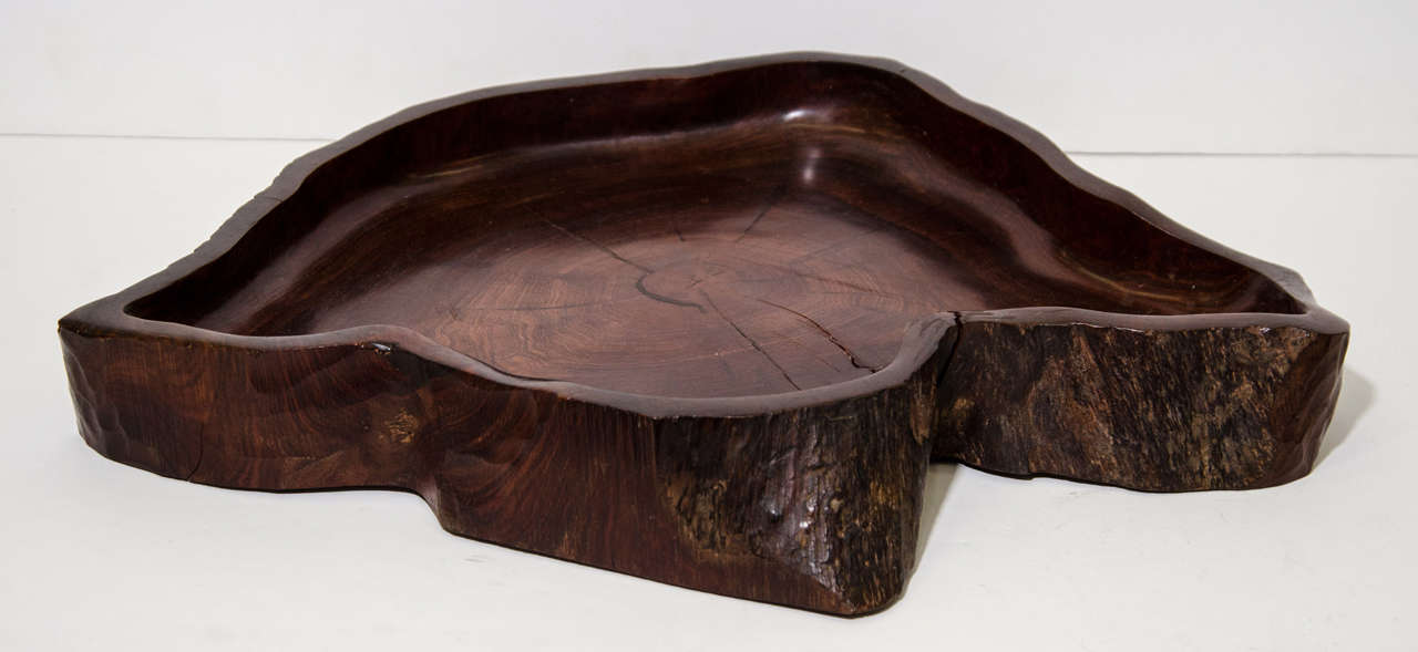 Jean gillon large centerpiece jacaranda wood bowl at stdibs