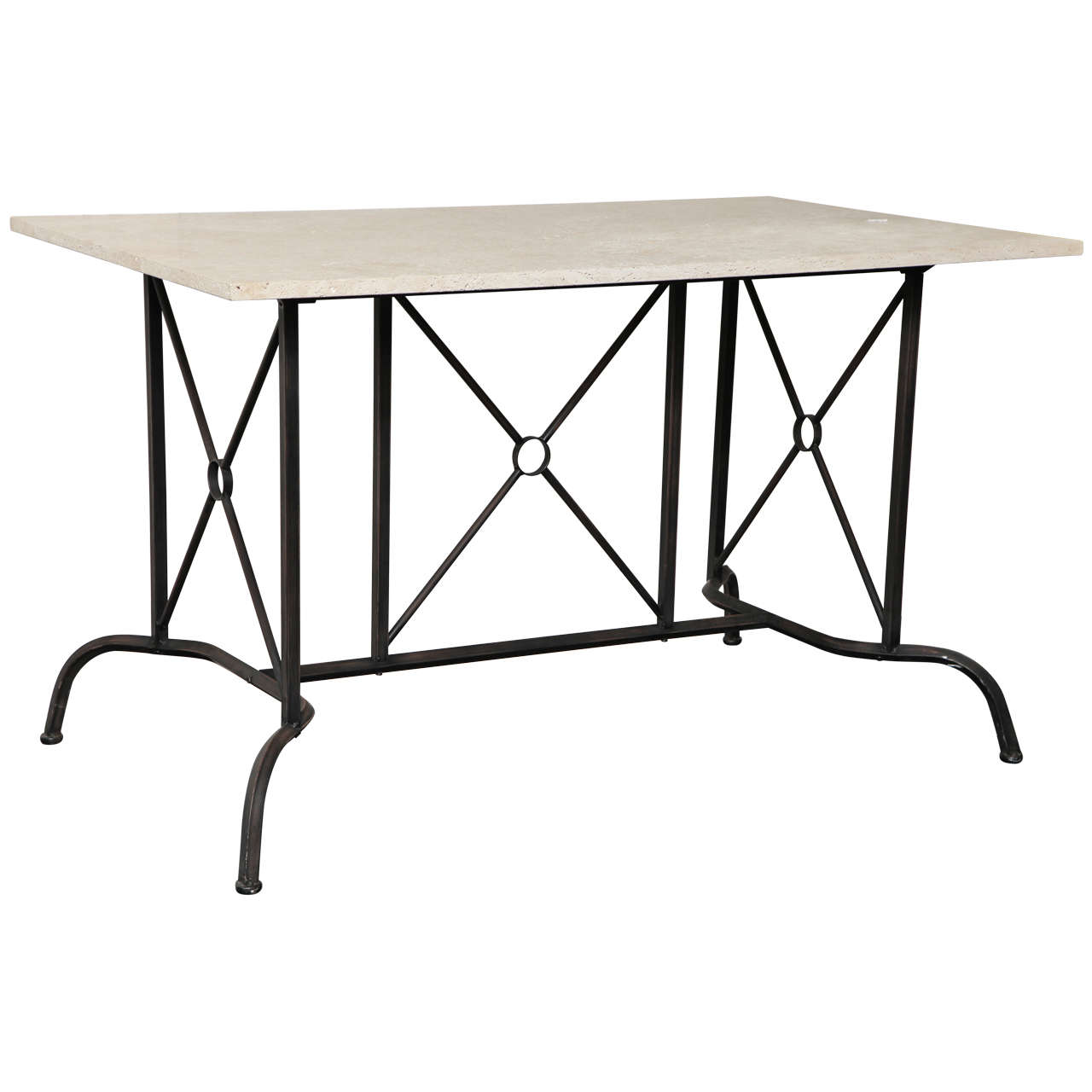 20th Century Patinated Steel Console