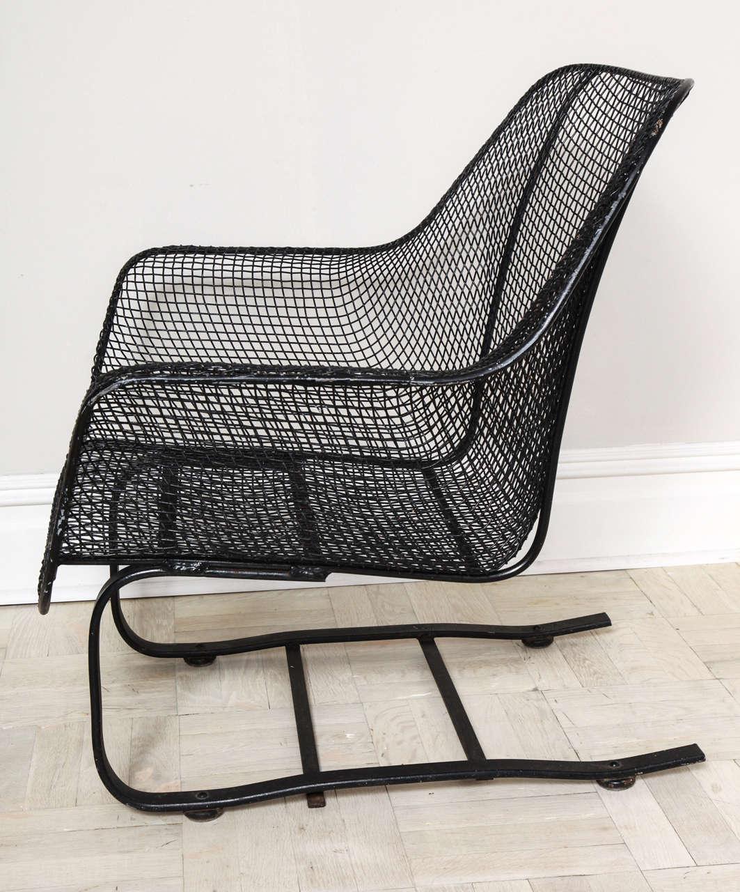 Rare Mid Century Woodard Sculptura Spring Rocker Chair at