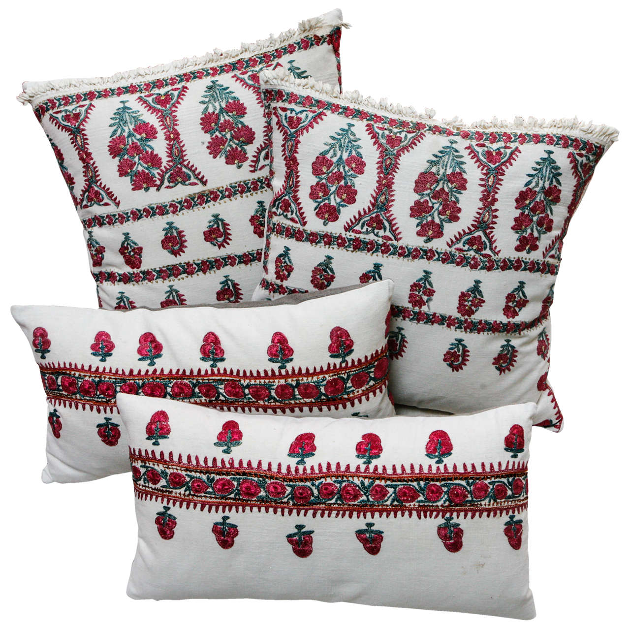 Embroidered Moroccan Pillows. at 1stdibs