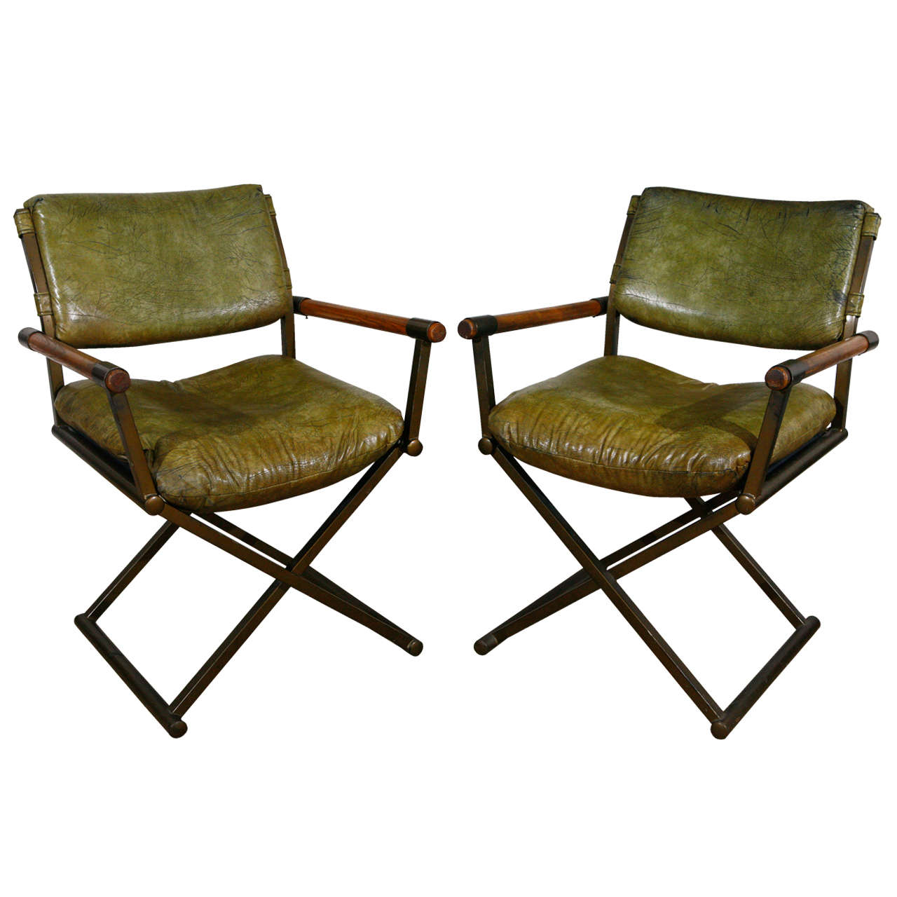 Campaign Chairs In The Style Of Cleo Baldon For Sale