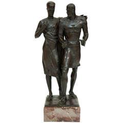 Bronze Sculpture signed A.W. Goebel