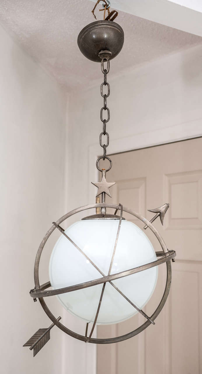 Chase Art Deco Globe Hanging Light Fixture 2