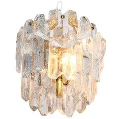 A Mid Century Petite Austrian Crystal Light Fixture by Kalmar