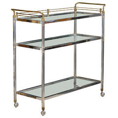 Exceptionally Tall Bar Cart