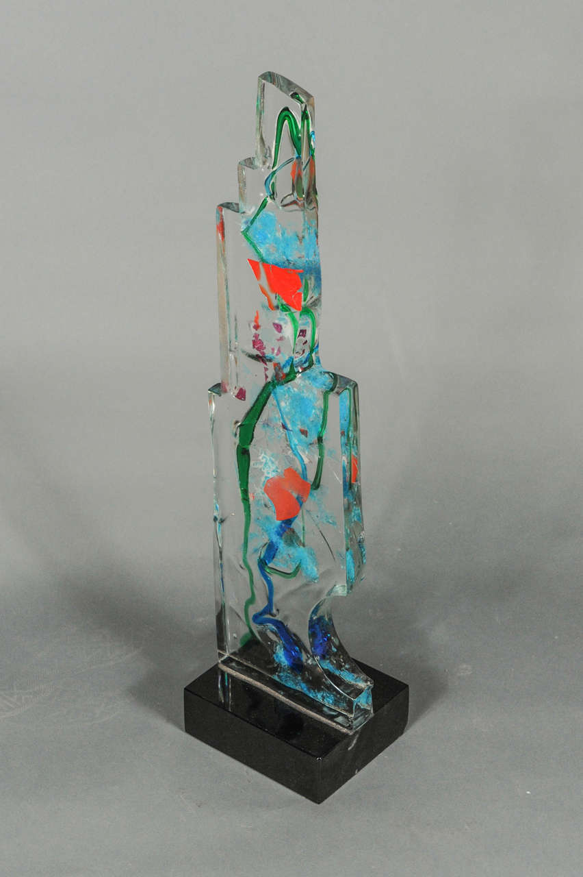 Beautiful Glass Sculpture Made On Murano At 1stdibs