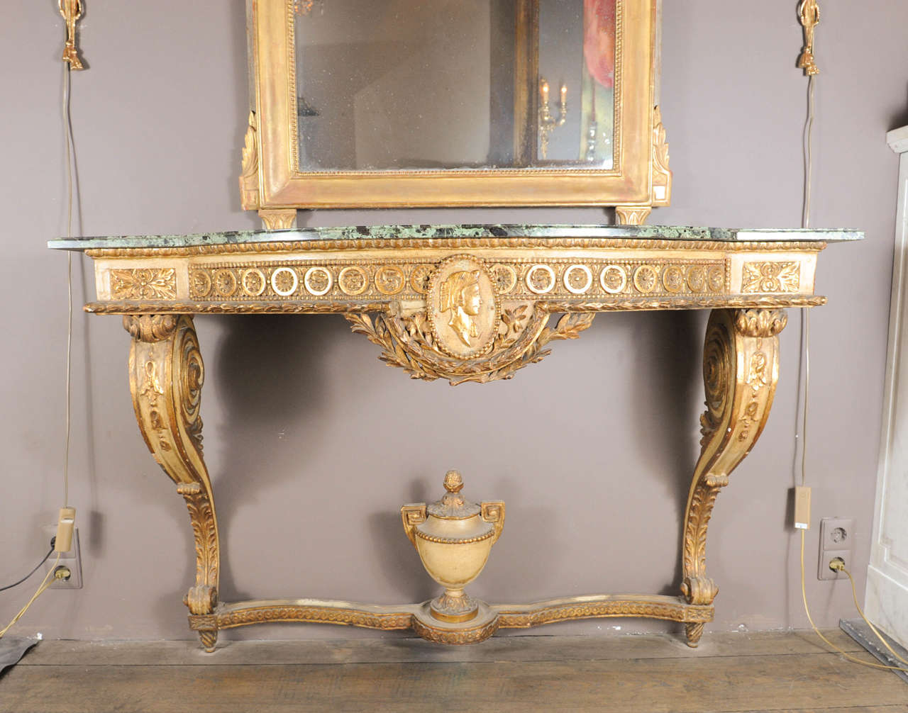 A wooden console table napoleon iii with marble top for sale at a wooden console table napoleon iii with marble top 2 geotapseo Gallery