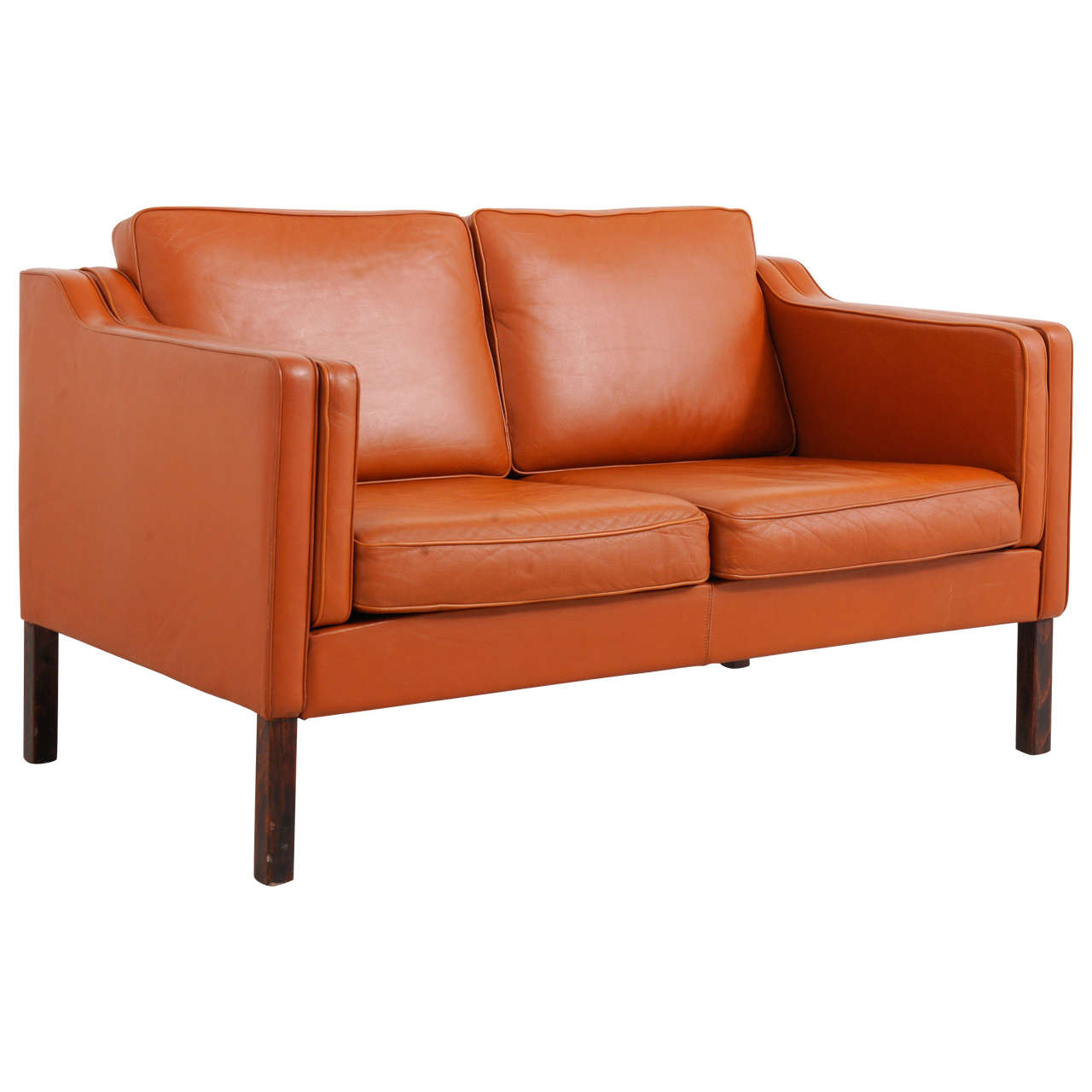 borge mogensen cognac leather sofa at 1stdibs. Black Bedroom Furniture Sets. Home Design Ideas