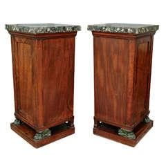 Very Fine Pair of Regency Mahogany Dining Room Pedestals