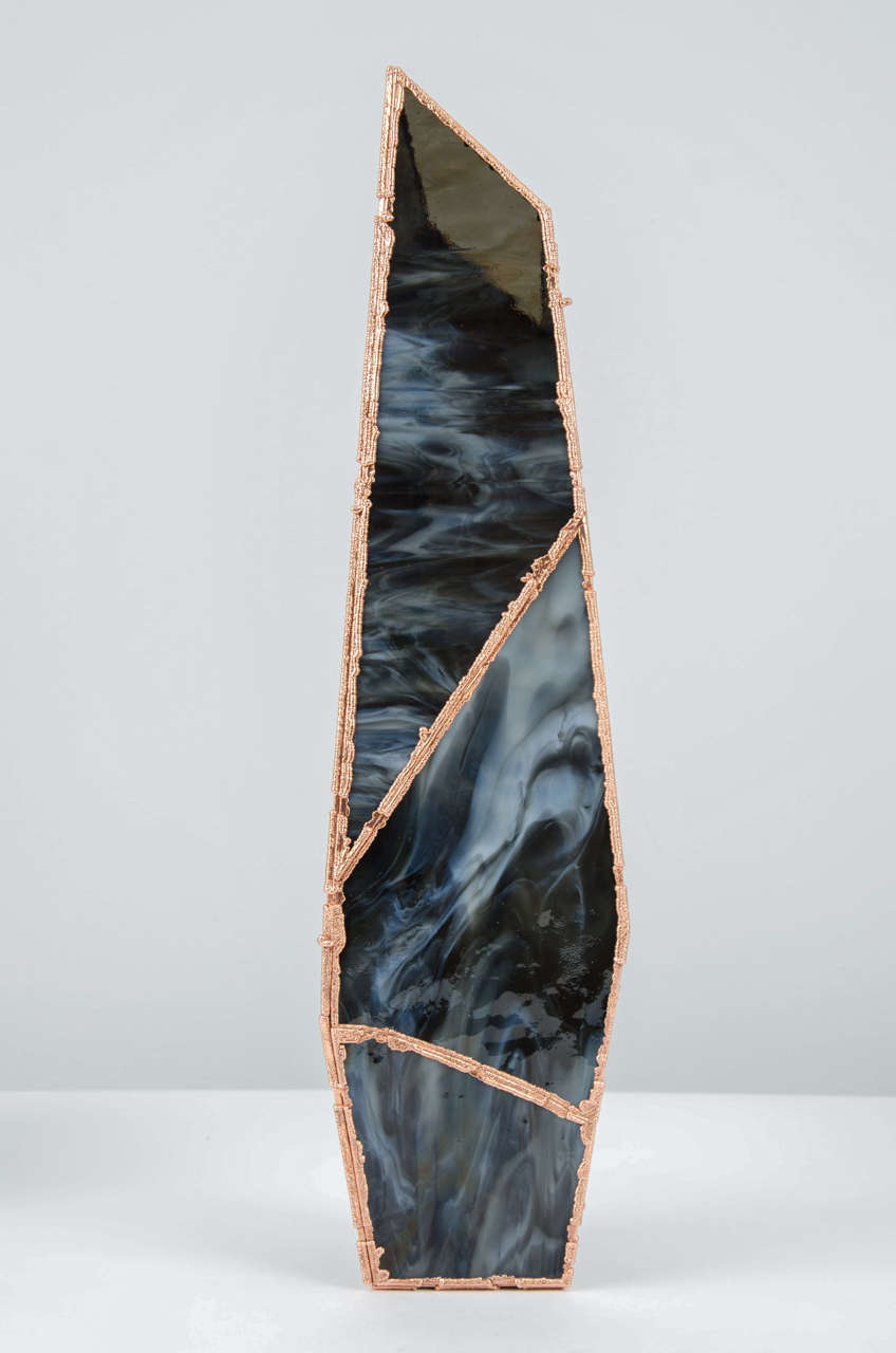 Dutch OverNight Vases, Unique Glass and Copper Mixed Colored Vases by Odd Matter For Sale