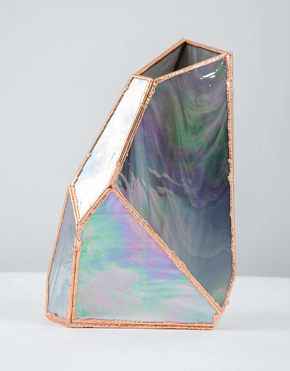 OverNight Vases, Unique Glass and Copper Mixed Colored Vases by Odd Matter For Sale 1