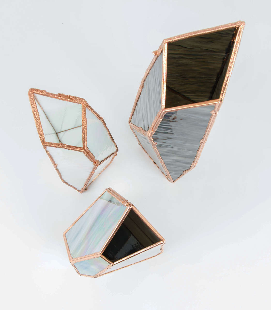 OverNight Vases, Unique Glass and Copper Mixed Colored Vases by Odd Matter For Sale 3