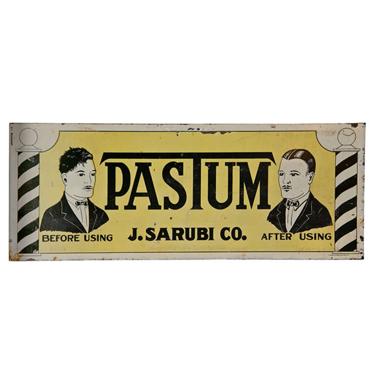 "Antique ""Pastum"" Before and After Two-Sided Sign"