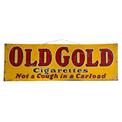 "Antique ""Old Gold Cigarettes"" Sign"
