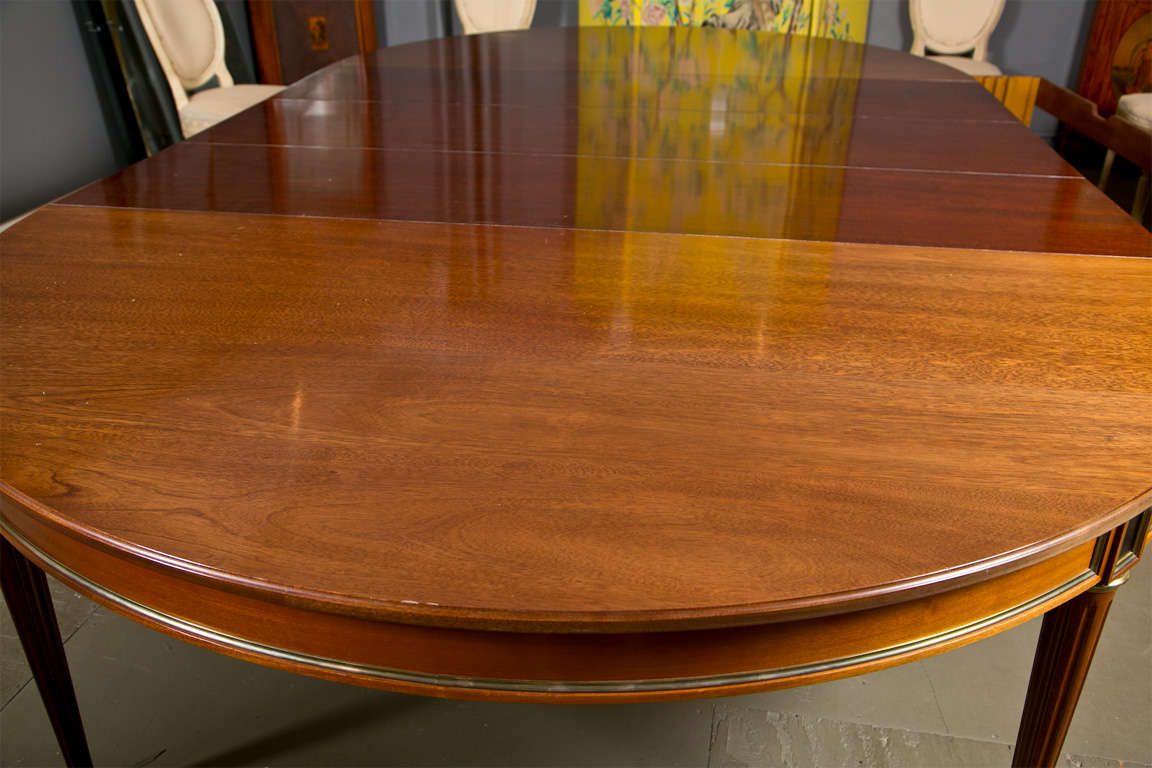 Directoire Style Dining Table, Mahogany and Brass Inlay 5
