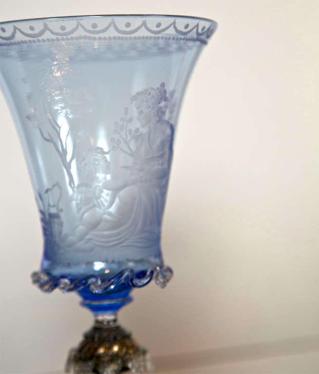 Italian Venetian Glass Goblets For Sale