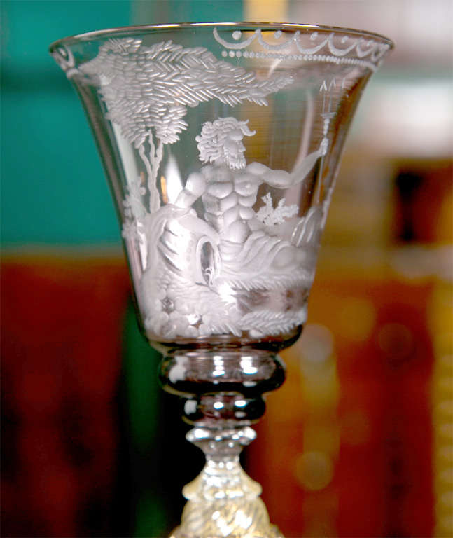 Venetian Glass Goblets In Good Condition For Sale In Stamford, CT