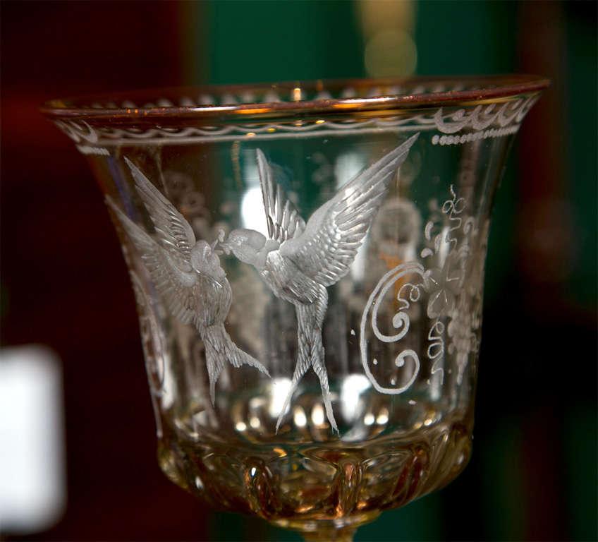 Venetian Glass Goblets For Sale 1