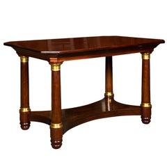 Mahogany Empire Style Console Table