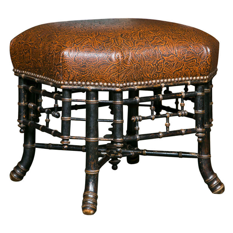 Regency Style Hexagonal Stool