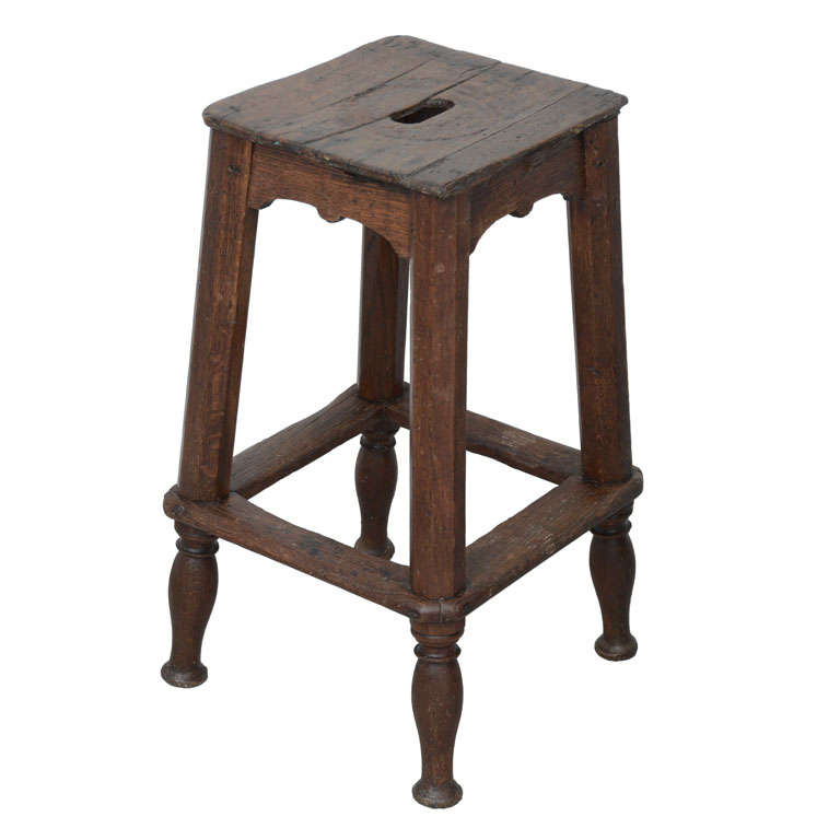 17th Century Wooden Stool From France At 1stdibs