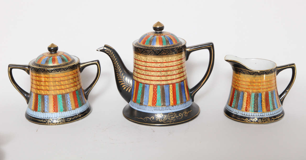 Takito Japanese Thousand Faces Tea Set By Nippon At 1stdibs