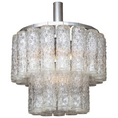 Murano Two-Tier Chandelier with Sculpted Glass Pendants