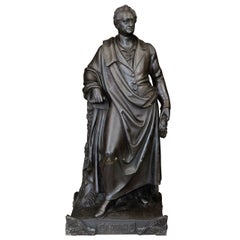 19th Century Berlin Iron Work Statue of Goethe