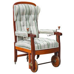Very Good 19th Century French Invalid's Mechanical Chair