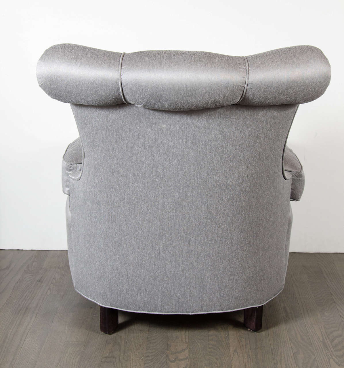 Mid-20th Century Glamorous 1940s Hollywood Scroll Design Slipper Chair by Dorothy Draper For Sale