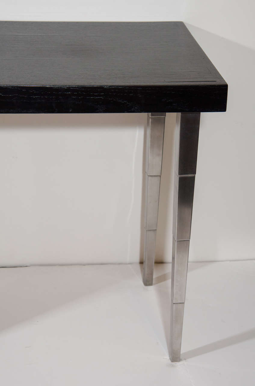 Brushed Rare Art Deco Vanity Table and Desk  For Sale