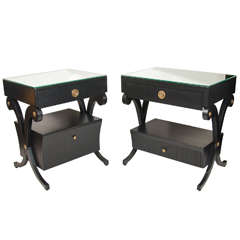 Pair of Regency Companion End Tables in the Manner of Grosfeld House