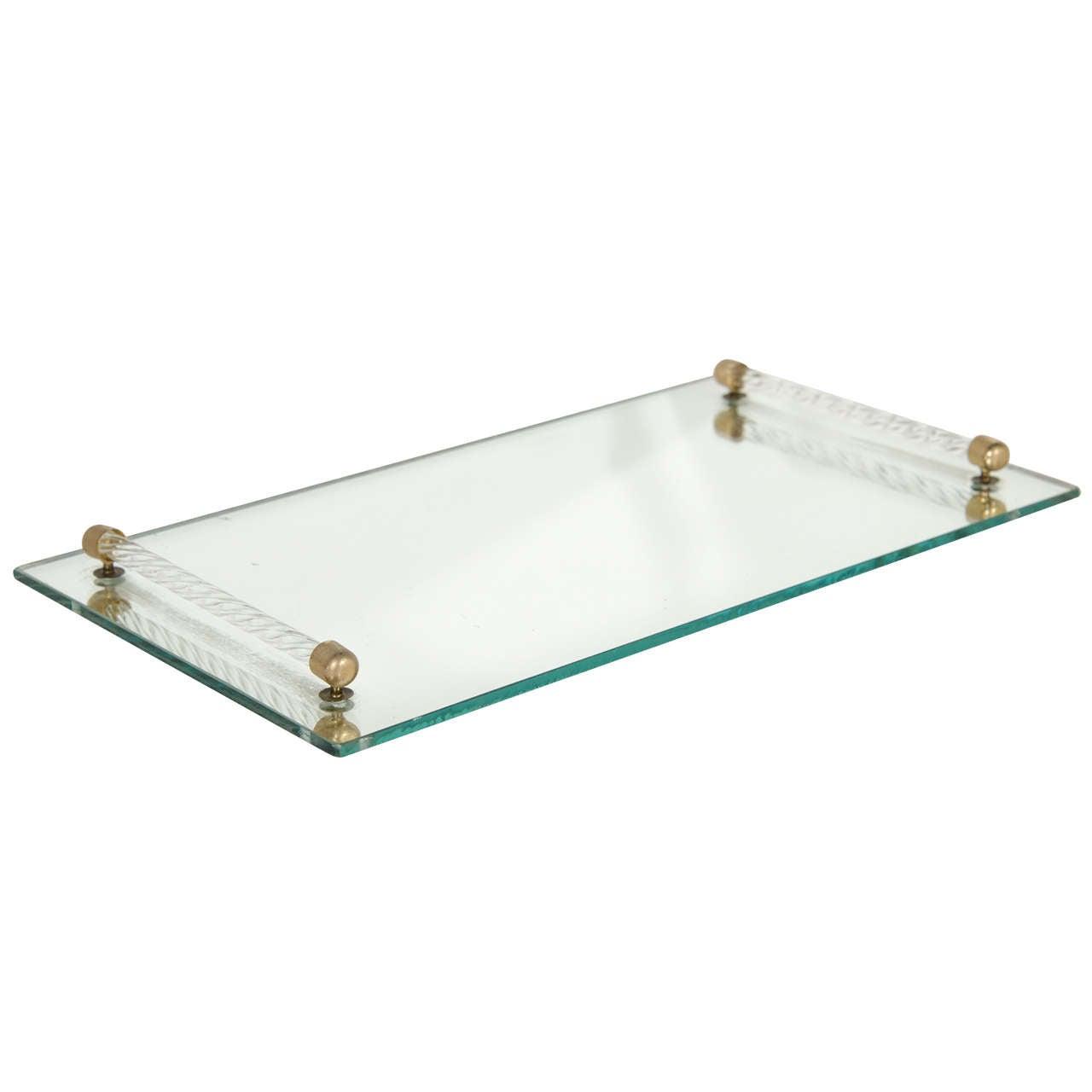 Hollywood mirrored vanity tray at 1stdibs