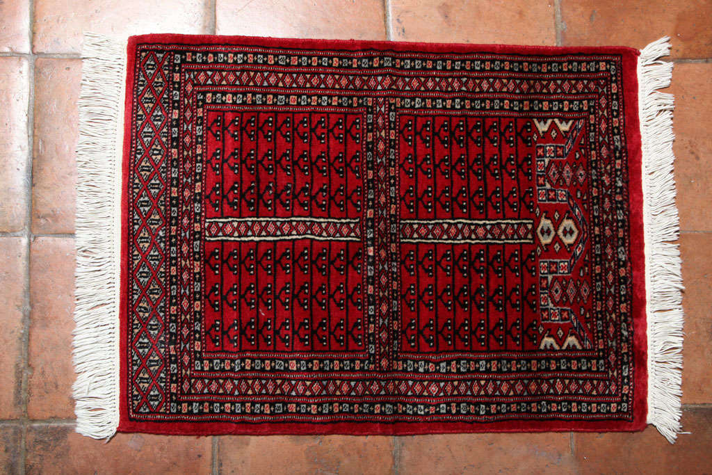 Antique Turkish Rug It Has Beautiful Geometric Motifs The Colors Are Red Blue