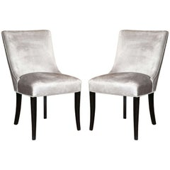 Set of Two Elegant Mid-Century Slipper Side Chairs