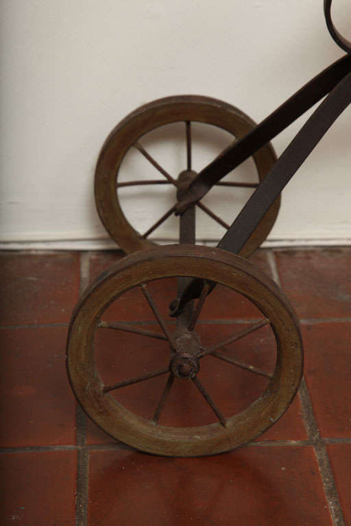 Antique Tricycle Toy in Iron and Wood from early 1900's 6