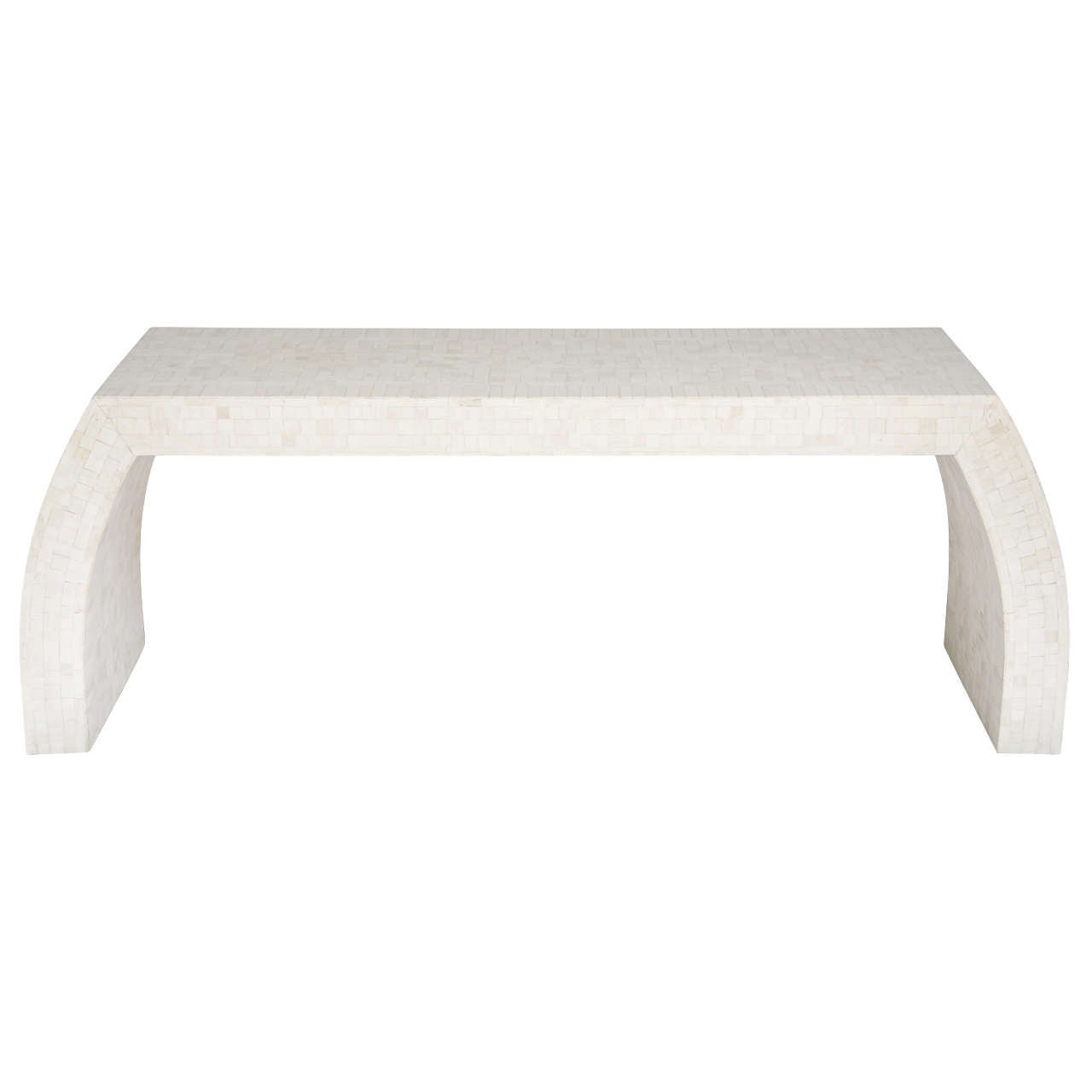 A karl springermaitland smith tesselated white bone console table a karl springermaitland smith tesselated white bone console table 1 geotapseo Images