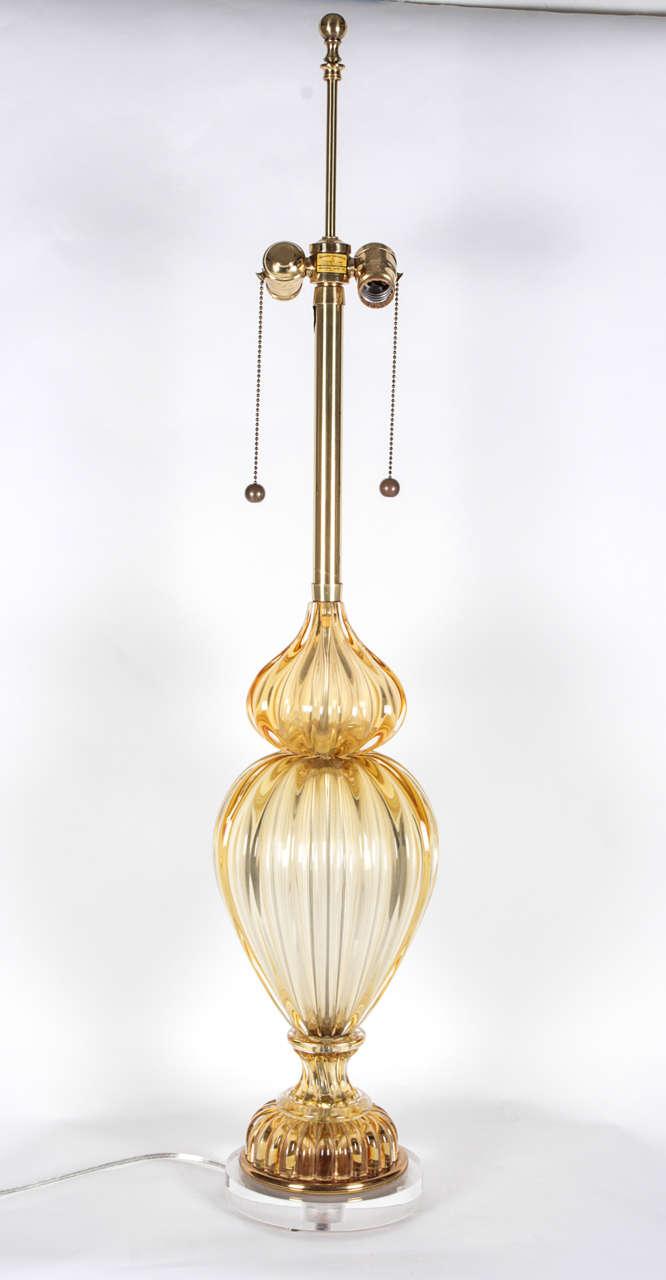 Nice tall Murano glass lamp.