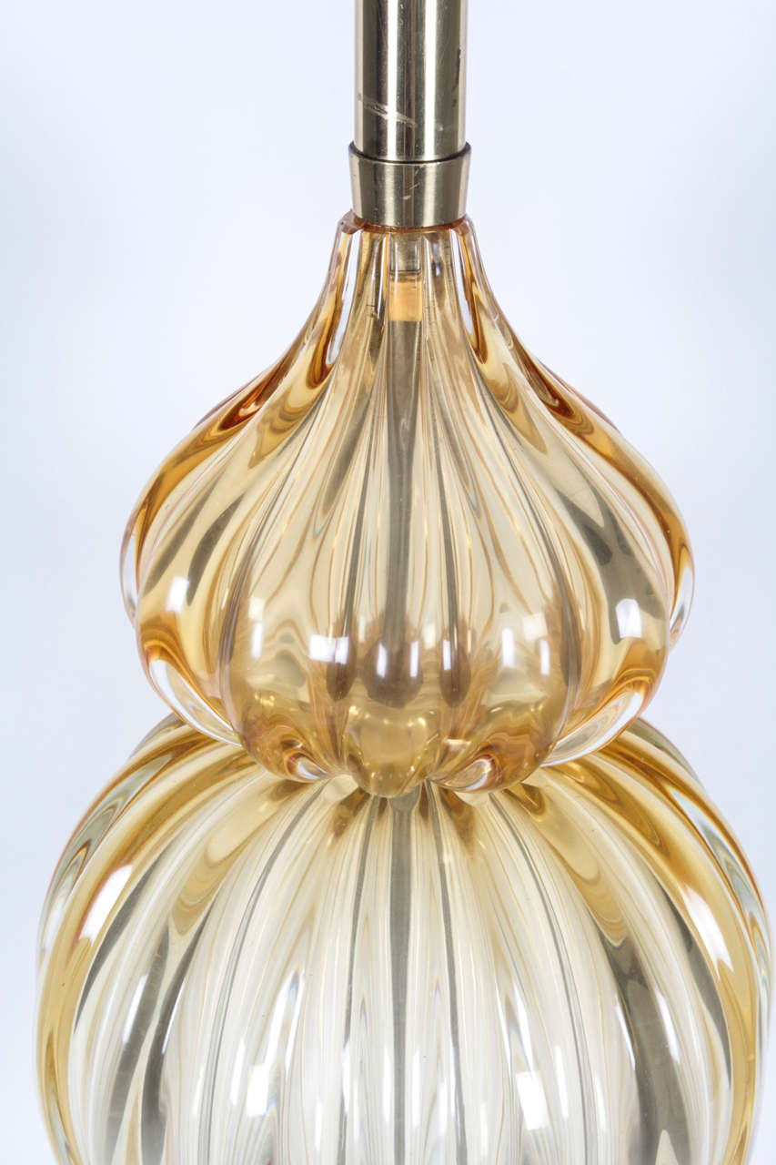 Murano Glass Table Lamp by Marbro In Excellent Condition For Sale In New York, NY