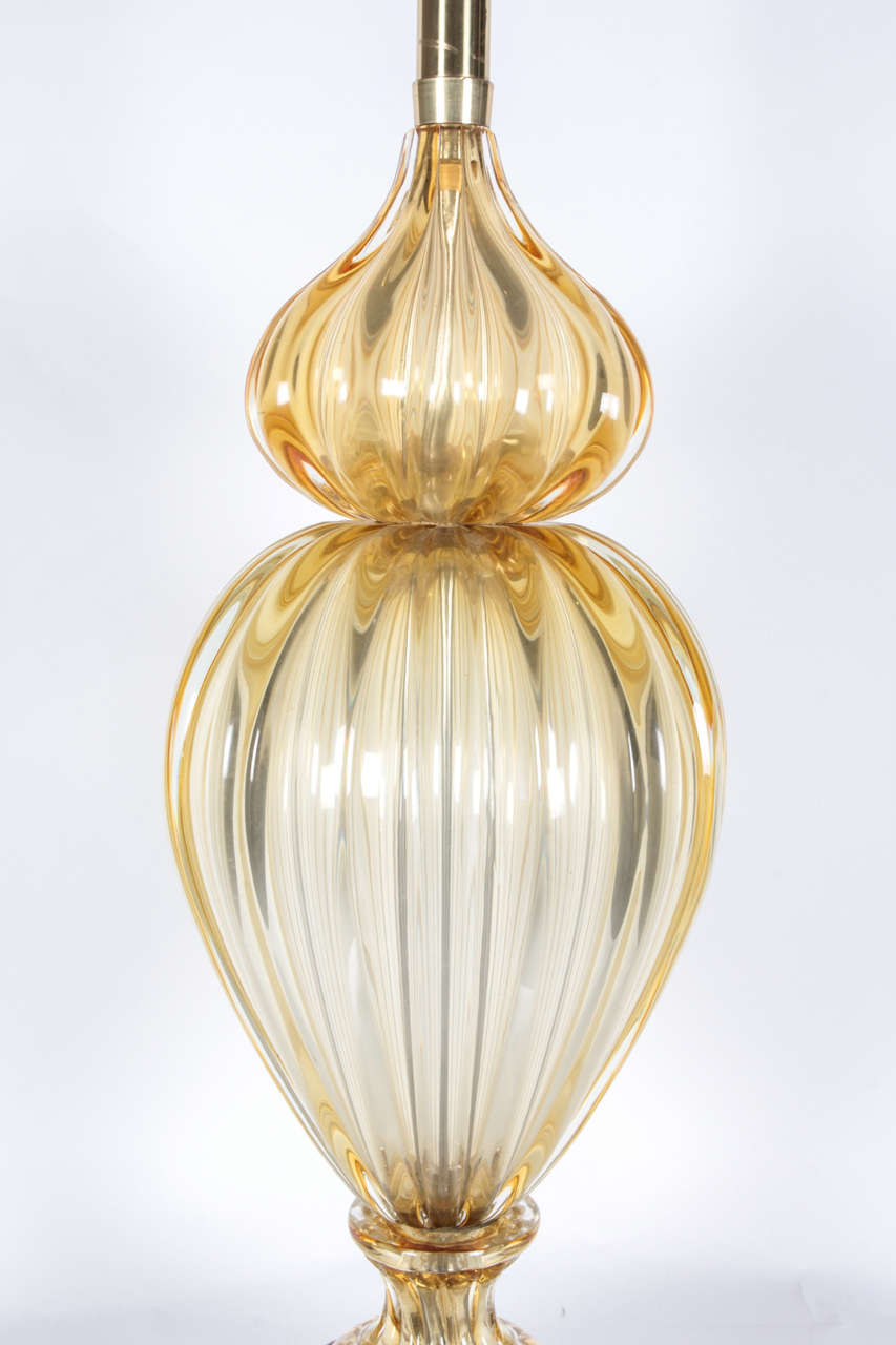 Mid-20th Century Murano Glass Table Lamp by Marbro For Sale