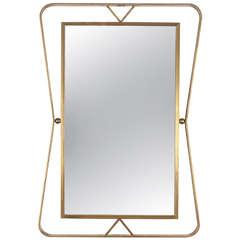 1960's Gilt Iron Mirror By Gilbert Poillerat