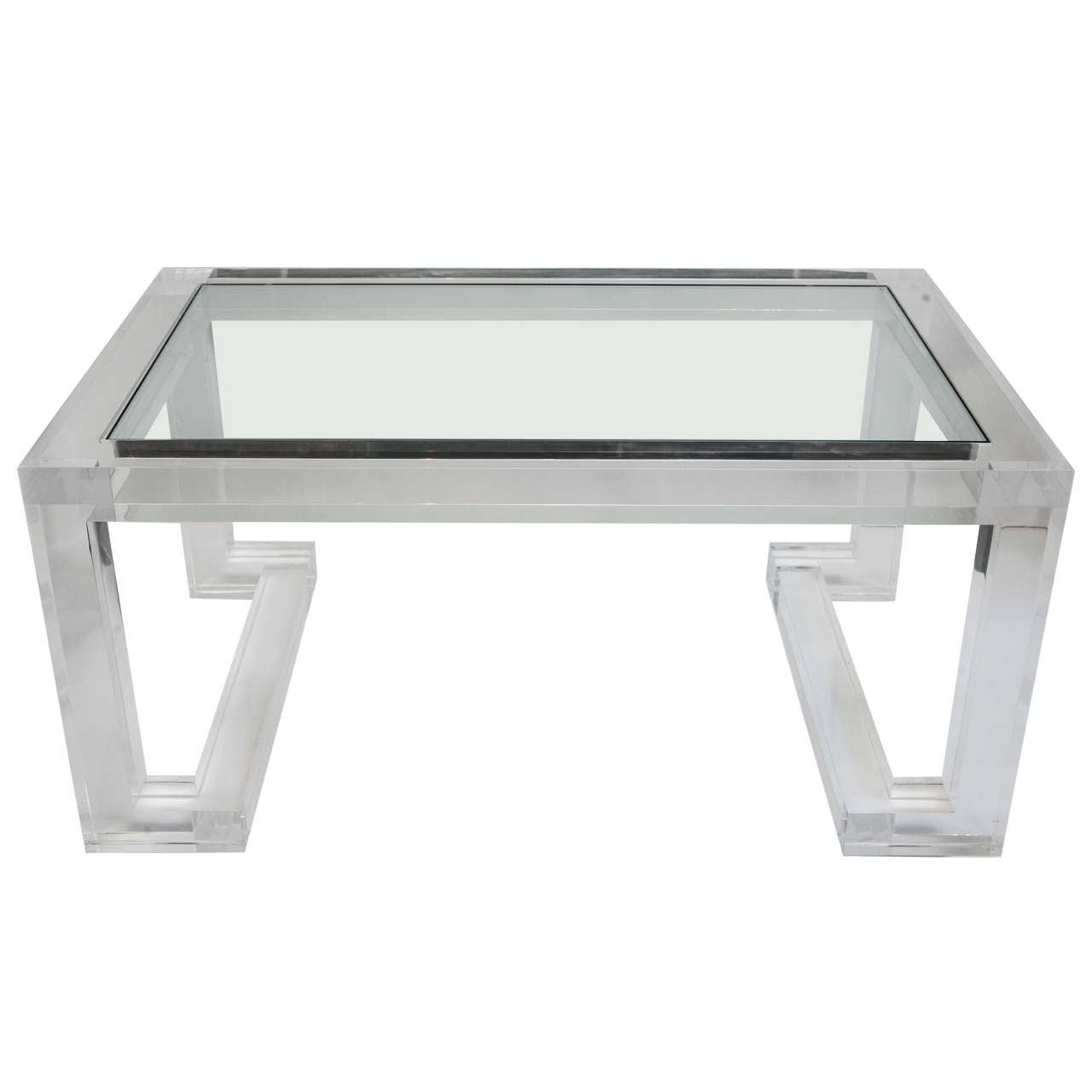 Acrylic and Glass Coffee Table