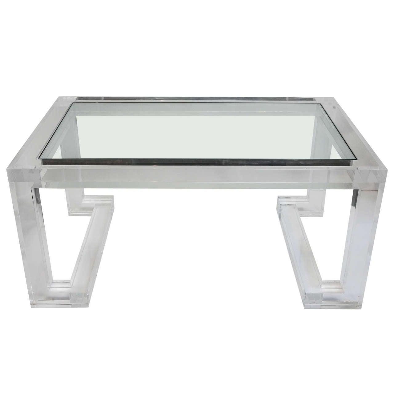 Acrylic And Glass Coffee Table: Acrylic And Glass Coffee Table At 1stdibs